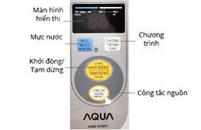 bảng điều khiển thông minh, tối ưu của máy giặt aqua aqw-s70kt