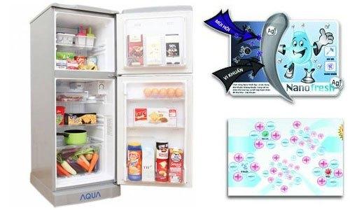 Tủ lạnh Aqua AQR-145AN (SS) với công nghệ Nano Ag+ khử mùi