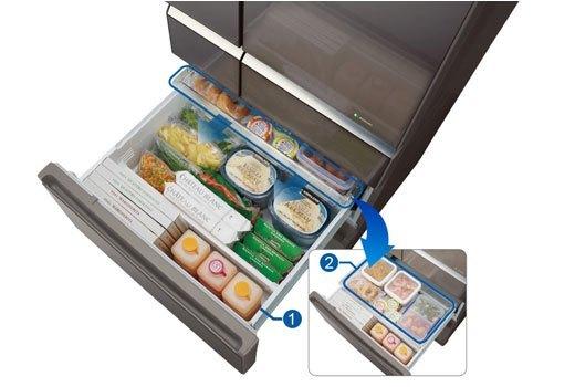 Ngăn rau củ tủ lạnh Panasonic NR-F510GT-X2 dung tích lớn
