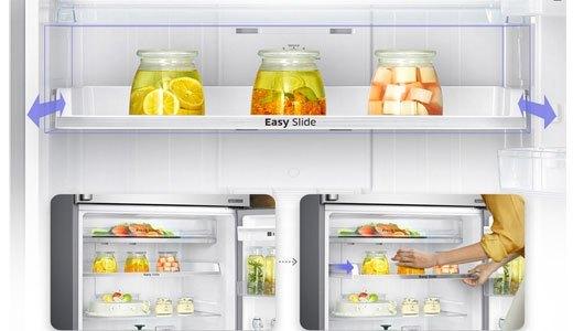 Tủ lạnh Samsung RT43H5231SL thiết kế ngăn khay kệ trượt linh hoạt