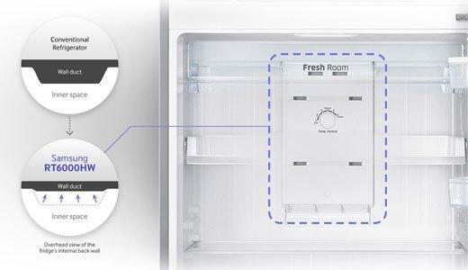 Tủ lạnh Samsung RT43H5231SL sở hữu không gian lưu trữ thông minh
