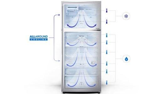 Tủ lạnh Samsung RT43H5231SL công nghệ luồng khí lạnh đa chiều
