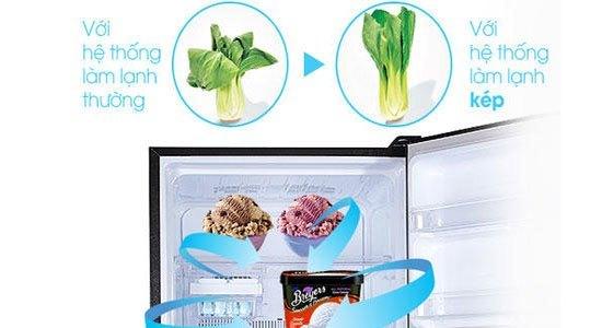 Tủ lạnh Toshiba GR-TG46VPDZ (ZW1) có ngăn làm lạnh kép phân bố khắp tủ