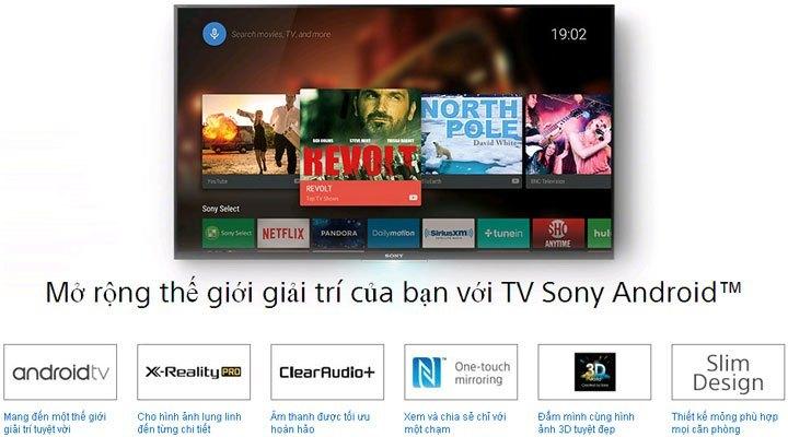 Tivi Led Sony KDL-55W800C Smart TV chạy hệ điều hành Android