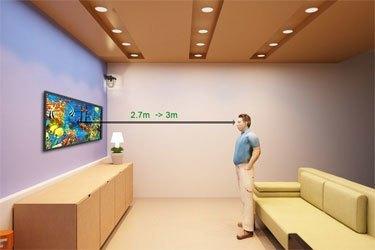 Giữ khoảng cách 2.7m-3m khi xem tivi LED LG 49LF630T