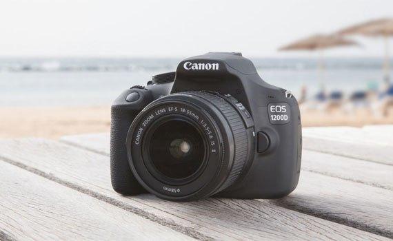 Máy ảnh Canon EOS 1200D với thiết kế gọn gàng