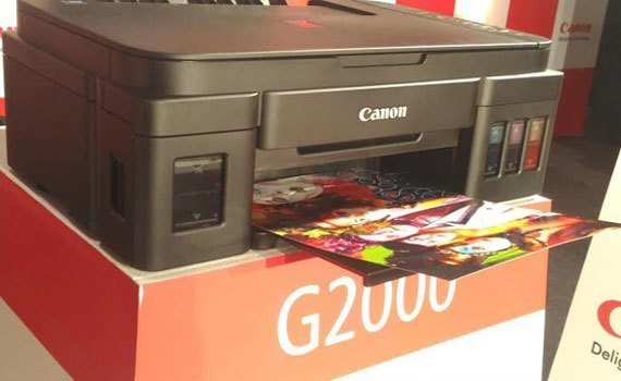 Máy in phun Canon Pixma G2000 kiểu dáng chuyên nghiệp, tinh tế