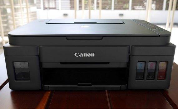 Máy in phun Canon Pixma G3000 kiểu dáng chuyên nghiệp, tinh tế