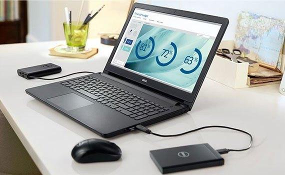 Máy tính xách tay Dell Inspiron 3558 thiết kế cứng cáp, lịch lãm