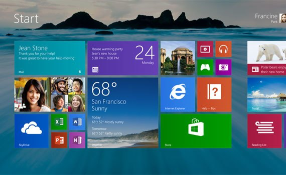 Máy tính xách tay Dell Inspiron 3558 chạy nền tảng Windows 8.1
