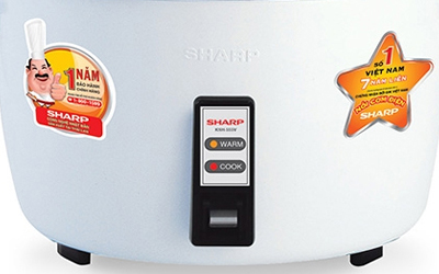 Nồi cơm điện Sharp KSH-555V 5 lít giá tốt có bán tại nguyenkim.com
