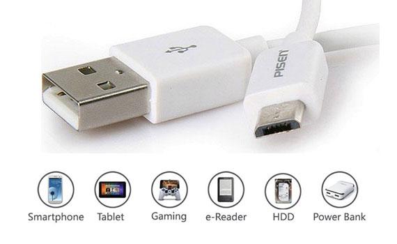 Dây cáp Micro USB Pisen 800mm hiện đại