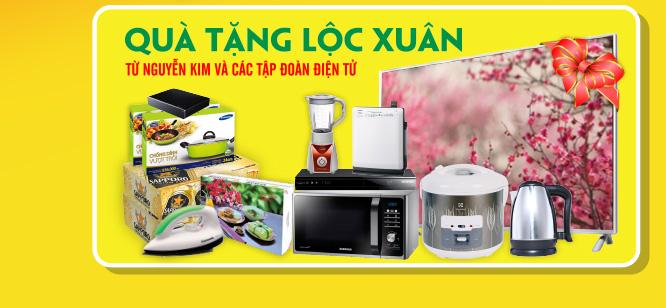 Mua hàng giá rẻ nhận ngay những phần quà hấp dẫn lộc đầu xuân từ Nguyễn Kim và các tập đoàn điện tử