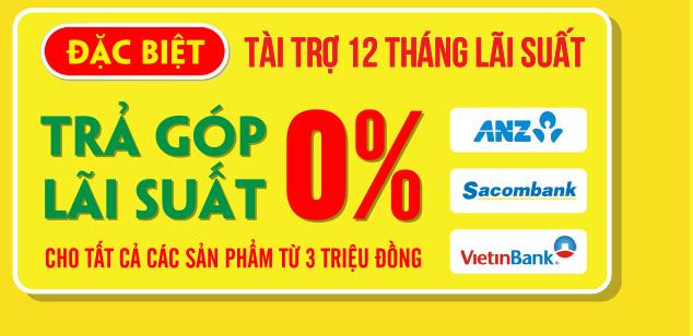 Mua hàng online giá rẻ ưu đãi đặc biệt trả góp lãi suất 0% cho các sản phẩm từ 3 triệu đồng trở lên tại Nguyễn Kim.