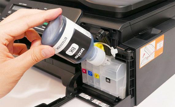 Máy in phun Brother DCP-T700W nạp mực dễ hơn.