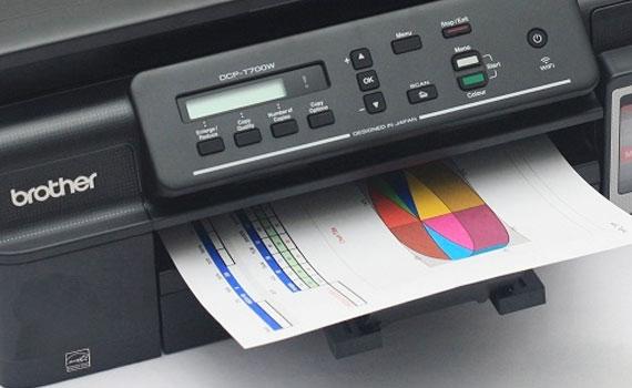 Chất lượng bản in màu của máy in phun Brother DCP-T700W tốt.