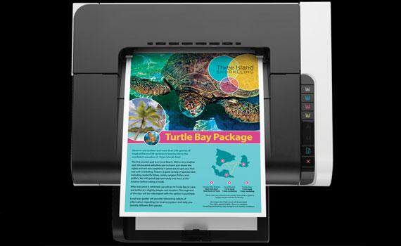 Máy in laser HP LaserJet Pro CP1025 cho tốc độ in khá nhanh