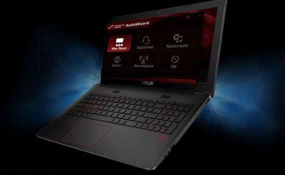 Thiết kế laptop Asus ROG GL552VX DM070D độc đáo