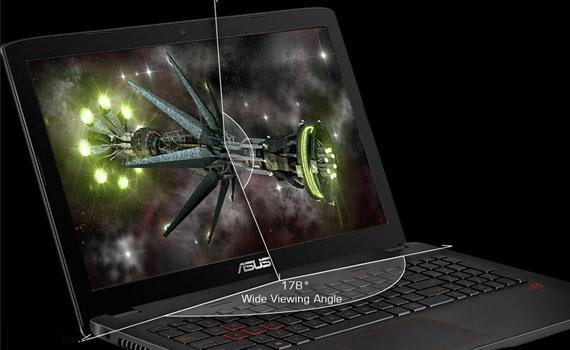 Màn hình laptop Asus ROG GL552VX DM070D cho hình ảnh sắc nét