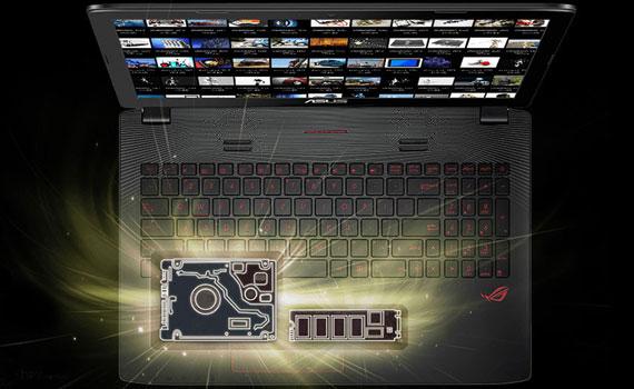 Laptop Asus ROG GL552VX DM070D dung lượng ổ cứng 1TB