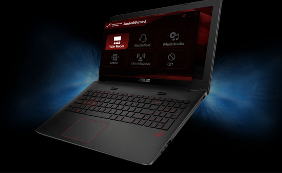 Laptop Asus ROG GL552VX DM143D trang bị chip Intel Core i5