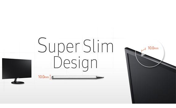 Thiết kế màn hình vi tính Samsung LS19F350HNEXXV siêu mỏng.