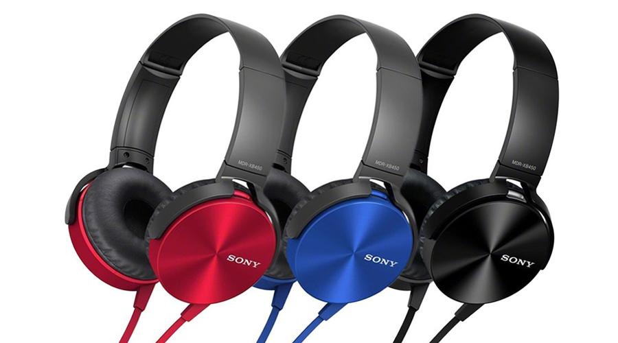 Tai nghe choàng đầu loại nào tốt? Tai nghe Sony MDR-XB450AP xanh