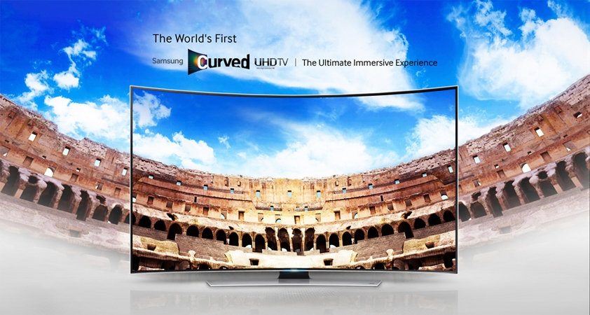 Samsung curved screen television screens 55 inches UA55KU6500 UHD resolution