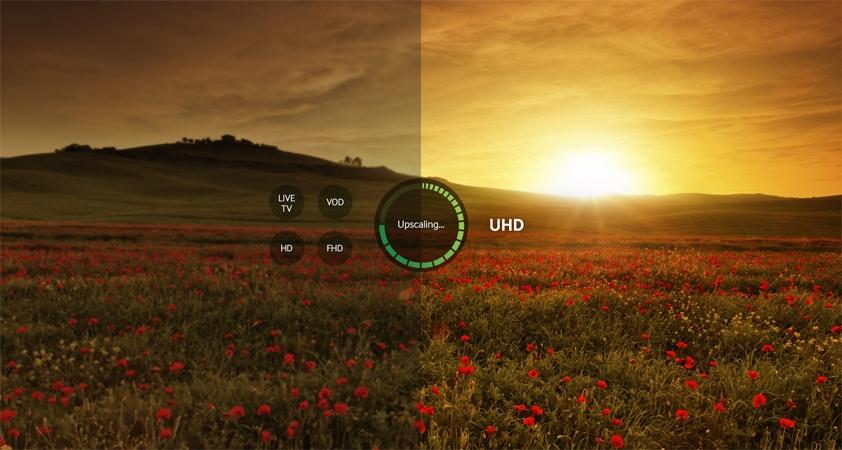 Samsung UHD TV UA70KU6000 upgrade to the standard image UHD