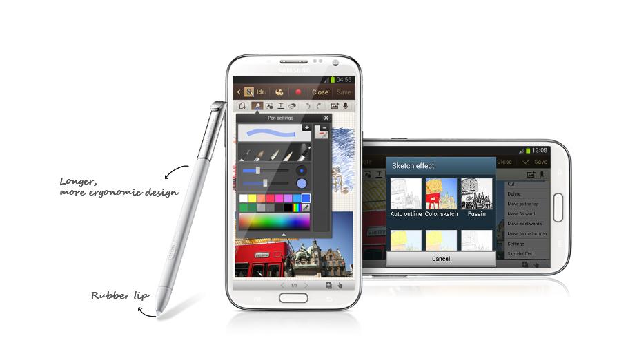 Nhiều công cụ viết và mẫu note để luôn sẵn sàng trong  Samsung Galaxy Note 2 N7100 để bắt nhịp cùng phong cách sáng tạo của bạn
