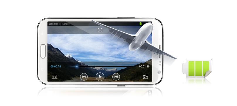Samsung Galaxy Note 2 N7100 được thiết kế với bộ vi xử lý lõi tứ xung nhịp 1.6 GHz và dung lượng pin 3100 mAh đủ mạnh cho bạn thoải mái bay bổng cùng trí sáng tạo của mình