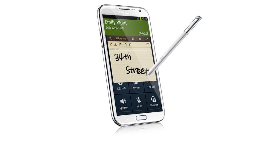 Samsung Galaxy Note 2 N7100 tạo đường dẫn, số điện thoại, và tất cả mọi thông tin một cách thuận tiện trong khi bạn đang nhận cuộc gọi