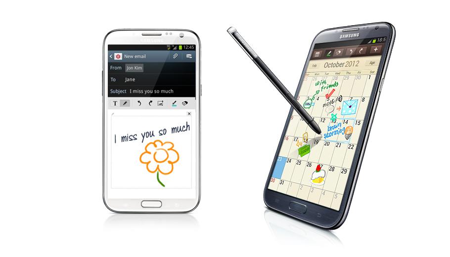 Gửi lời nhắn viết tay qua email. Với  Samsung Galaxy Note 2 N7100