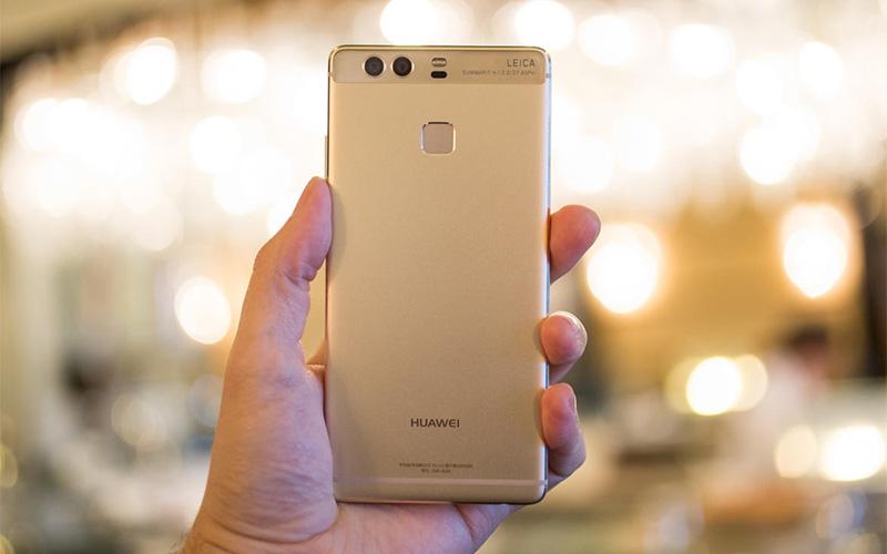 Điện thoại Huawei P9 gold thiết kế nguyên khối kim loại nhôm