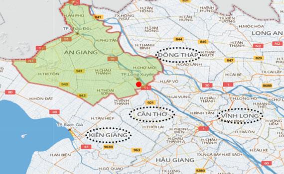Nguyễn Kim khu vực An Giang