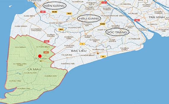 Nguyễn Kim khu vực Cà Mau