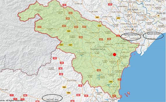 Nguyễn Kim khu vực tỉnh Thanh Hóa