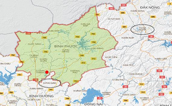 Nguyễn Kim khu vực Bình Phước