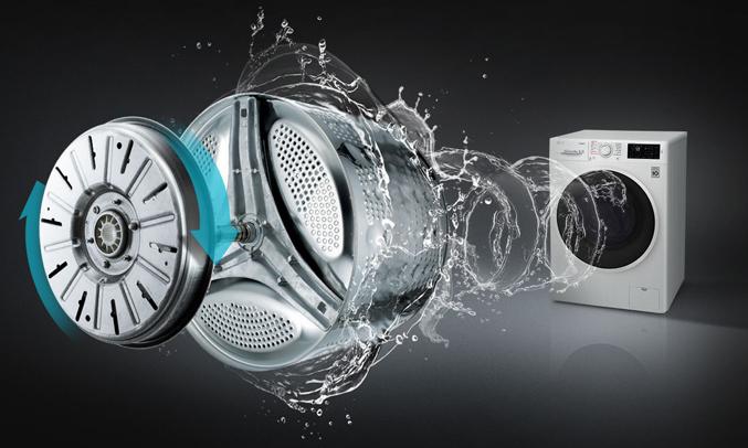 Máy giặt LG 8KG FC1408S4W2 hoạt động êm ái, hạn chế tiếng ồn tối ưu