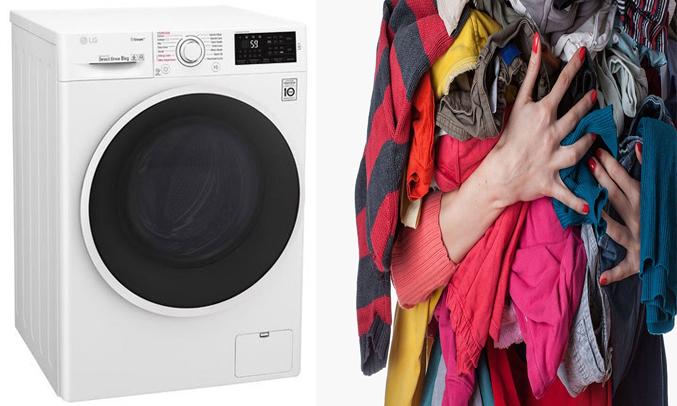 Máy giặt LG 8KG FC1408S4W2 có khối lượng giặt 8 kg