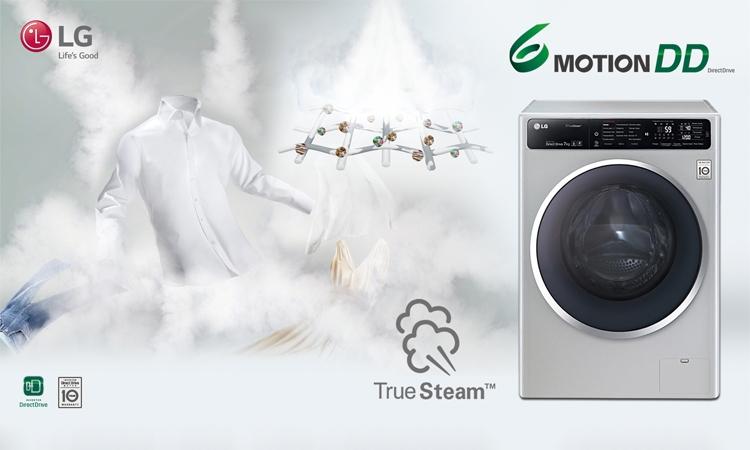 Máy giặt LG FC1408S3E với công nghệ giặt hơi nước