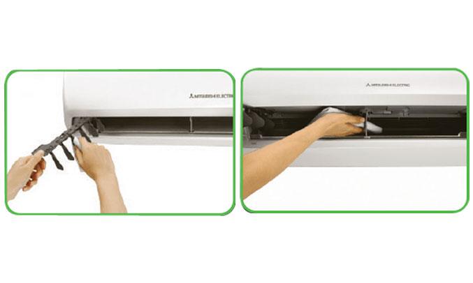 máy lạnh Mitsubishi Electric MS-HP35VF giúp bạn dễ dàng vệ sinh