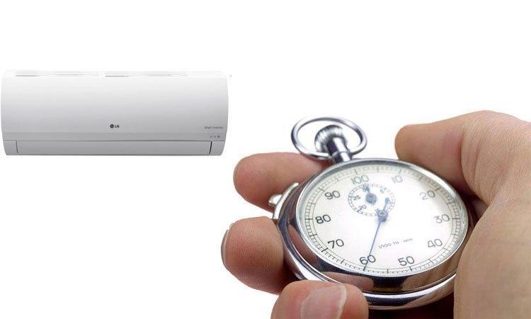 Máy lạnh LG 1HP V10ENP hẹn giờ bật/tắt thông minh