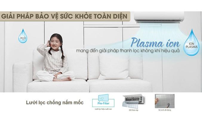 Máy lạnh Toshiba RAS-H18G2KCVP-V 2 HP bảo vệ sức khỏe
