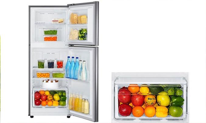 Tủ lạnh Samsung 208 lít RT19M300BGS/SV khay kệ linh hoạt