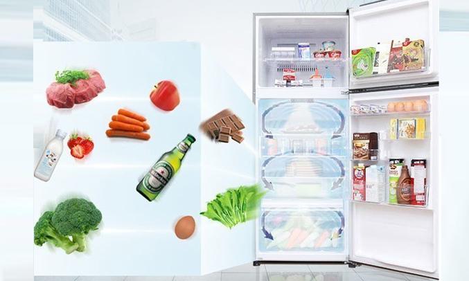 Tủ lạnh Toshiba GR-A25VU (UK) màu đen tiết kiệm điện