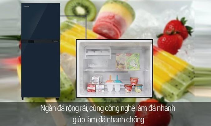 Tủ lạnh Toshiba GR-A25VU (UB) màu xanh đen công nghệ làm đá đông nhanh chóng