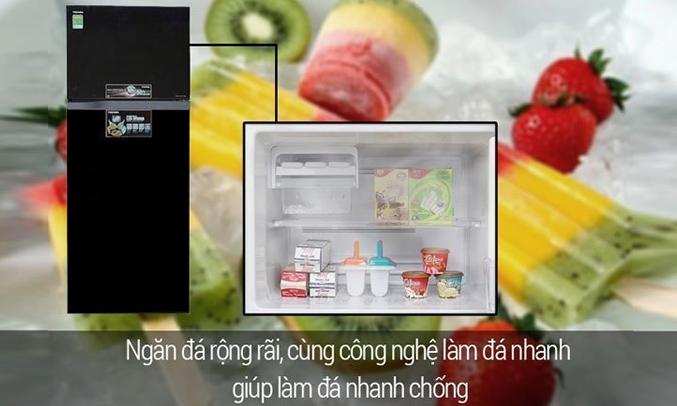 Tủ lạnh Toshiba GR-A25VU (UK) màu đen công nghệ làm đá đông nhanh chóng