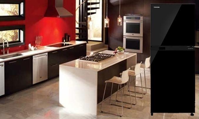 Tủ lạnh Toshiba GR-A25VU (UK) màu đen khử mùi diệt khuẩn vượt trội