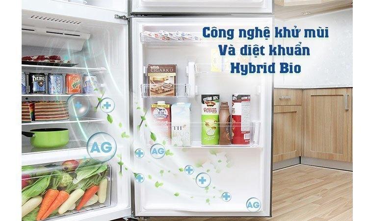 Tủ lạnh Toshiba GR-M25VUBZ(UK) 186 lít màu đen bóng, khử mùi diệt khuẩn vượt trội